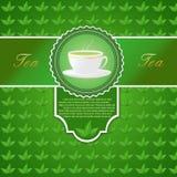 与一杯茶的菜单 免版税库存图片