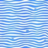 与一点的蓝色条纹波浪简单的背景 免版税库存图片