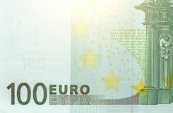 与一笔记的一百欧元 100欧元 免版税图库摄影