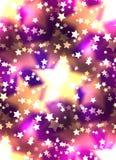 与一豪华金星和bokeh的无缝的纹理 欢乐模式向量 皇族释放例证