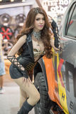 与一辆汽车的未认出的模型在泰国国际马达商展2015年 库存图片