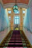 与一隆重的梯子在宫殿涅斯维日,白俄罗斯 库存图片
