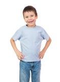 与一颗失去的牙的男孩画象 库存照片