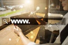 与万维网文本的查寻酒吧 网站 事务、互联网和技术概念 免版税库存图片