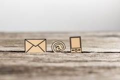 与三个象的营业通讯概念 库存图片
