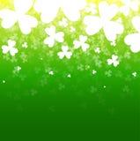 与三叶草的抽象背景 一张卡片为天帕特里克 库存照片