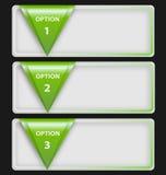 与三文本框的介绍模板 免版税图库摄影