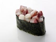 与三文鱼和鲕梨的寿司 库存图片