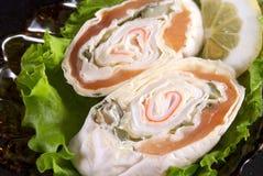 与三文鱼的三明治 图库摄影