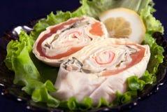 与三文鱼的三明治 库存图片