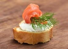 与三文鱼的开胃菜 免版税库存照片