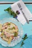 与三文鱼的面团 免版税库存图片