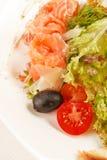 与三文鱼的鲜美开胃菜 库存照片