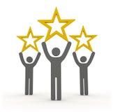 与三星形的星形评级 免版税图库摄影