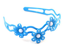 与三朵花的蓝色头发范围 库存图片