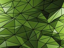 与三角元素的绿色背景 免版税库存照片