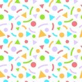 与三角和圈子的摘要几何无缝的样式 皇族释放例证