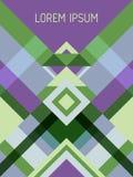 与三角和条纹样式的封页布局传染媒介模板几何设计 向量例证