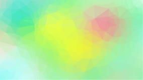与三角多角形的绿色几何背景 抽象设计 也corel凹道例证向量 免版税库存图片