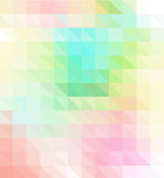 与三角多角形-低多的五颜六色的抽象几何背景 库存照片