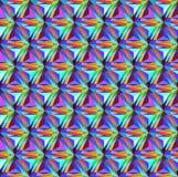 与三角宝石的几何样式的无缝的背景 免版税库存照片