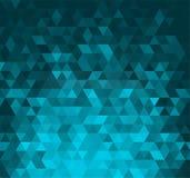 与三角形状的抽象横幅 库存图片
