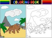 与三角恐龙动画片的彩图 库存照片