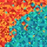 与三角样式的五颜六色的抽象背景 库存照片