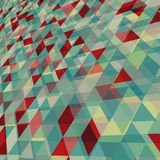 与三角样式的抽象背景 免版税库存照片