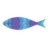 与三角样式的鱼 库存照片