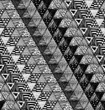 与三角的一个图表样式的无缝的纹理 库存照片