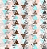 与三角的一个图表样式的无缝的纹理 免版税库存图片
