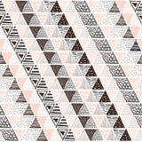 与三角的一个图表样式的无缝的纹理 库存图片