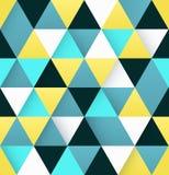 与三角的五颜六色的抽象背景 免版税图库摄影