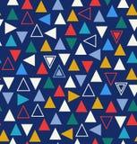 与三角的几何五颜六色的无缝的样式 免版税库存照片