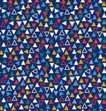 与三角的几何无缝的样式 抽象背景例证多色向量 图库摄影