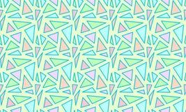 与三角的几何无缝的样式 免版税图库摄影