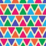 与三角的几何无缝的样式 免版税库存照片