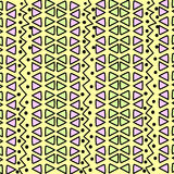 与三角的几何种族样式 免版税图库摄影