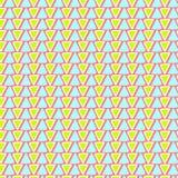 与三角的几何种族样式 免版税库存照片