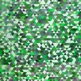 与三角的抽象五颜六色的传染媒介背景 发光的几何马赛克 绿色三角模式 10 eps 库存例证