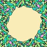 与三角的抽象减速火箭的几何无缝的样式 图库摄影