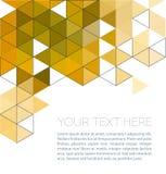 与三角的抽象几何背景 免版税库存照片