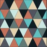 与三角的抽象无缝的几何样式 库存图片