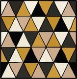 与三角的抽象无缝的几何样式 免版税库存照片
