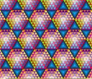 与三角的抽象无缝的样式 库存图片