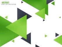 与三角的抽象绿色背景 库存图片