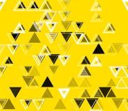 与三角的无缝的几何样式 免版税库存照片