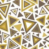 与三角的无缝的样式 免版税库存图片