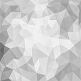 与三角的灰色和白色低多背景设计塑造 向量例证